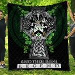 1sttheworld Premium Quilt - Gold Irish Family Crest Quilt - Irish Legend A7