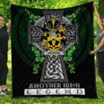 1sttheworld Premium Quilt - Hickson Irish Family Crest Quilt - Irish Legend A7