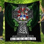 1sttheworld Premium Quilt - Lenihan or O'Lenaghan Irish Family Crest Quilt - Irish Legend A7