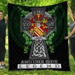 1sttheworld Premium Quilt - Heath Irish Family Crest Quilt - Irish Legend A7