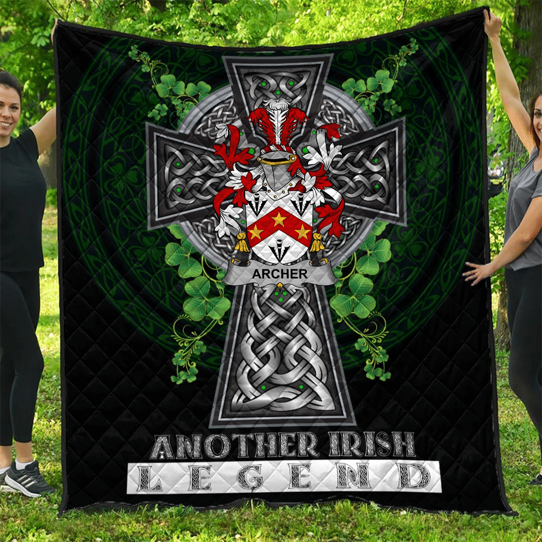 1sttheworld Premium Quilt - Archer Irish Family Crest Quilt - Irish Legend A7