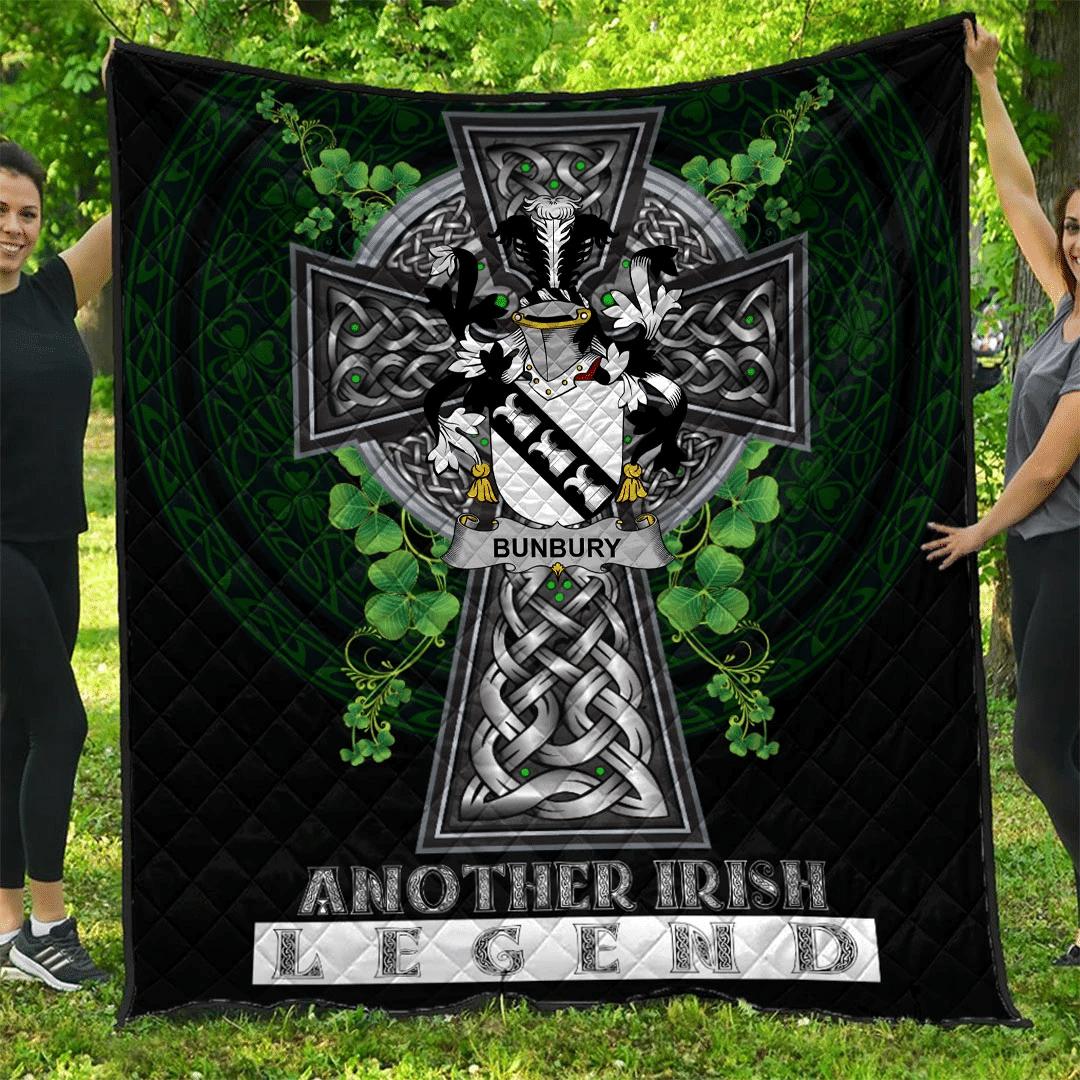 1sttheworld Premium Quilt - Bunbury Irish Family Crest Quilt - Irish Legend A7