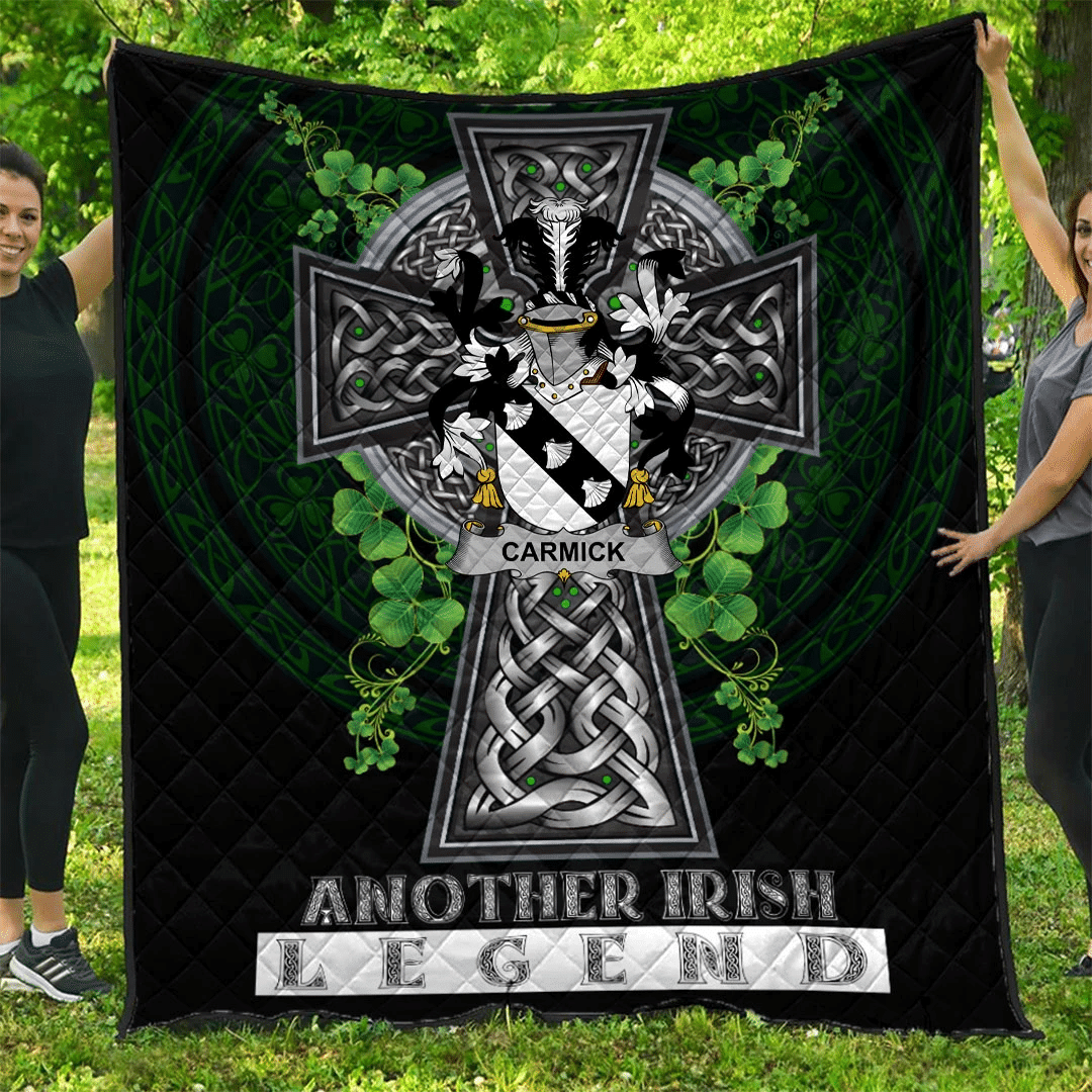 1sttheworld Premium Quilt - Carmick Irish Family Crest Quilt - Irish Legend A7