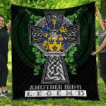 1sttheworld Premium Quilt - Montgomery Irish Family Crest Quilt - Irish Legend A7