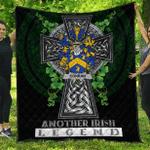 1sttheworld Premium Quilt - Conran or O'Condron Irish Family Crest Quilt - Irish Legend A7