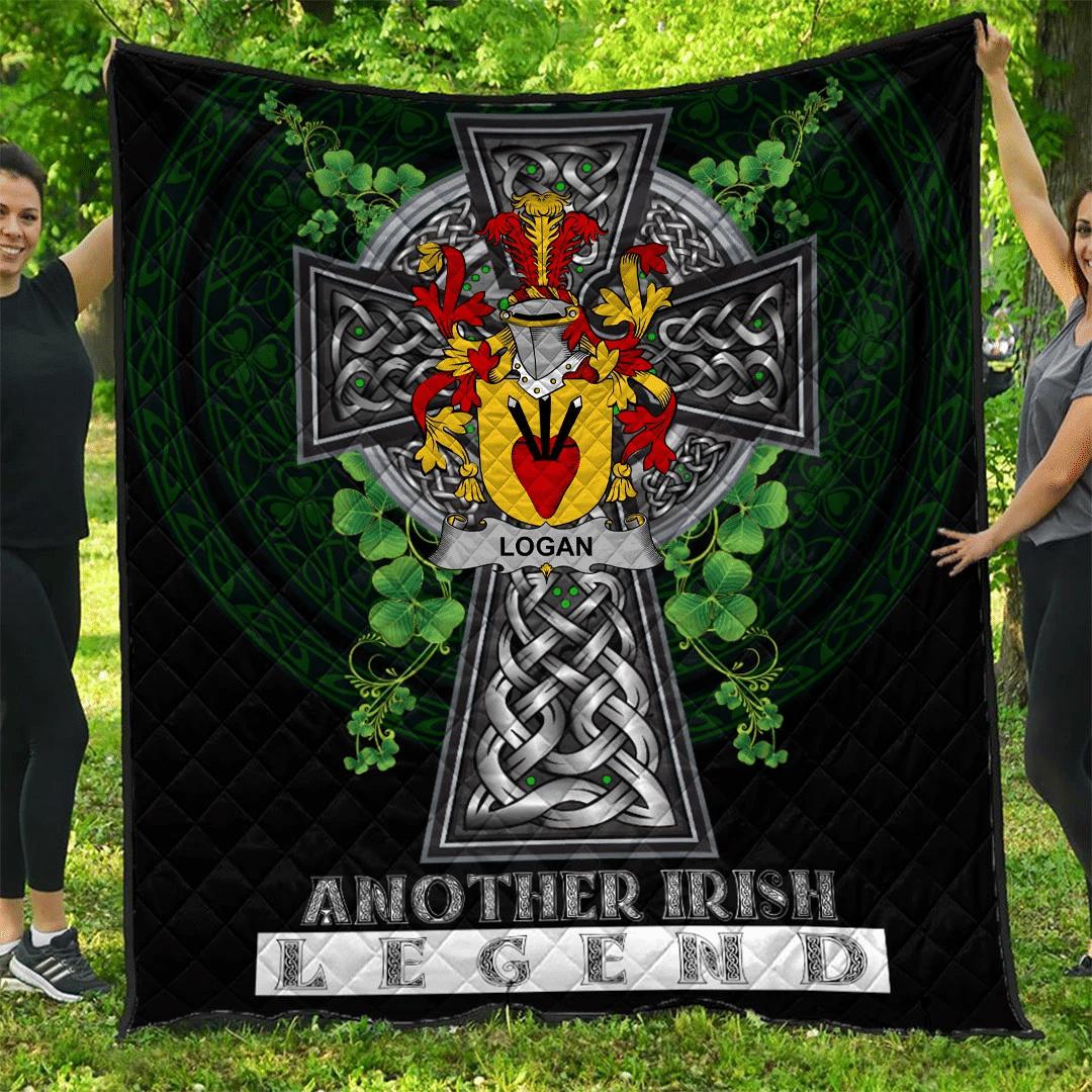 1sttheworld Premium Quilt - Logan Irish Family Crest Quilt - Irish Legend A7
