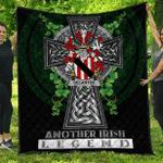 1sttheworld Premium Quilt - Delahyde Irish Family Crest Quilt - Irish Legend A7