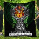 1sttheworld Premium Quilt - Lavin or O'Lavin Irish Family Crest Quilt - Irish Legend A7