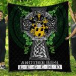 1sttheworld Premium Quilt - Trumbull or Turnbull Irish Family Crest Quilt - Irish Legend A7