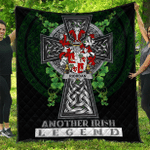 1sttheworld Premium Quilt - Riordan or O'Rearden Irish Family Crest Quilt - Irish Legend A7