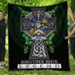 1sttheworld Premium Quilt - Traill or Trayle Irish Family Crest Quilt - Irish Legend A7