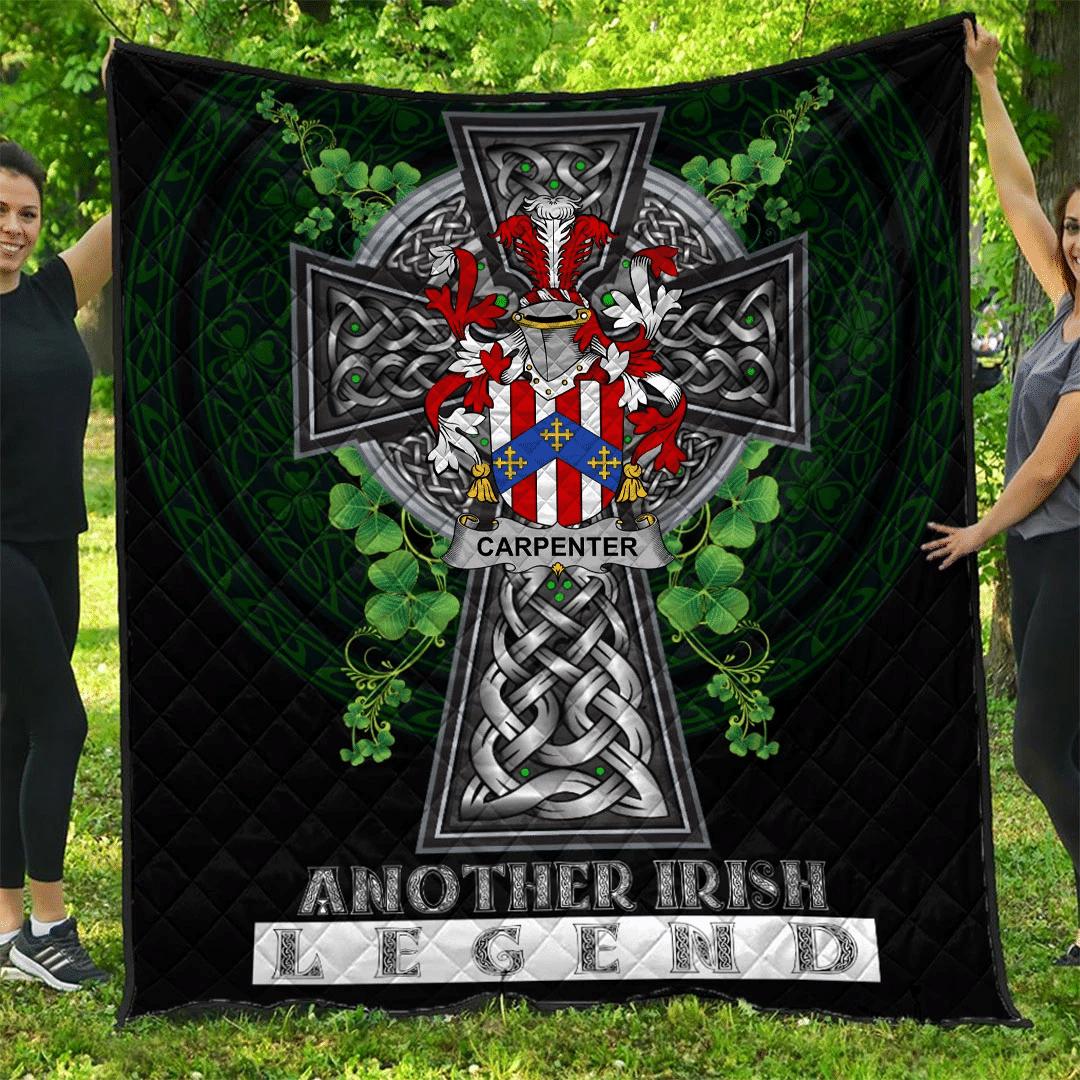 1sttheworld Premium Quilt - Carpenter Irish Family Crest Quilt - Irish Legend A7