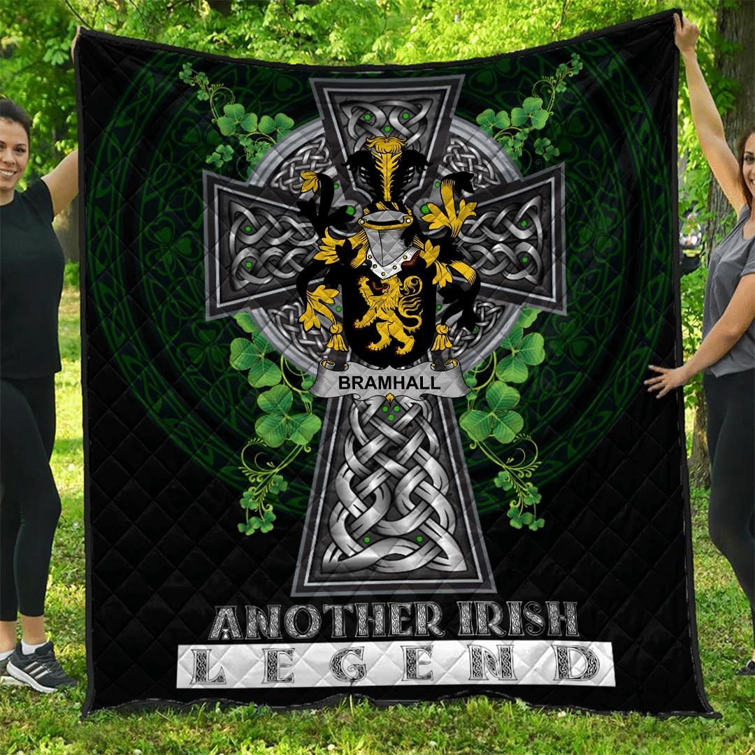 1sttheworld Premium Quilt - Bramhall Irish Family Crest Quilt - Irish Legend A7