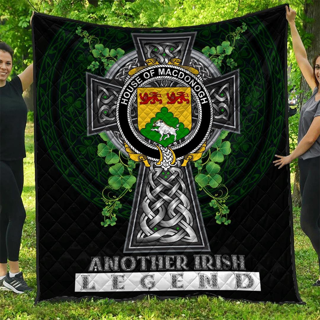 1sttheworld Premium Quilt - House of MACDONOGH (Connacht) Irish Family Crest Quilt - Irish Legend A7