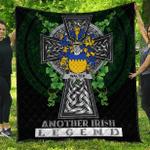 1sttheworld Premium Quilt - Walter Irish Family Crest Quilt - Irish Legend A7