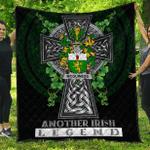 1sttheworld Premium Quilt - McGuiness or McGenis Irish Family Crest Quilt - Irish Legend A7