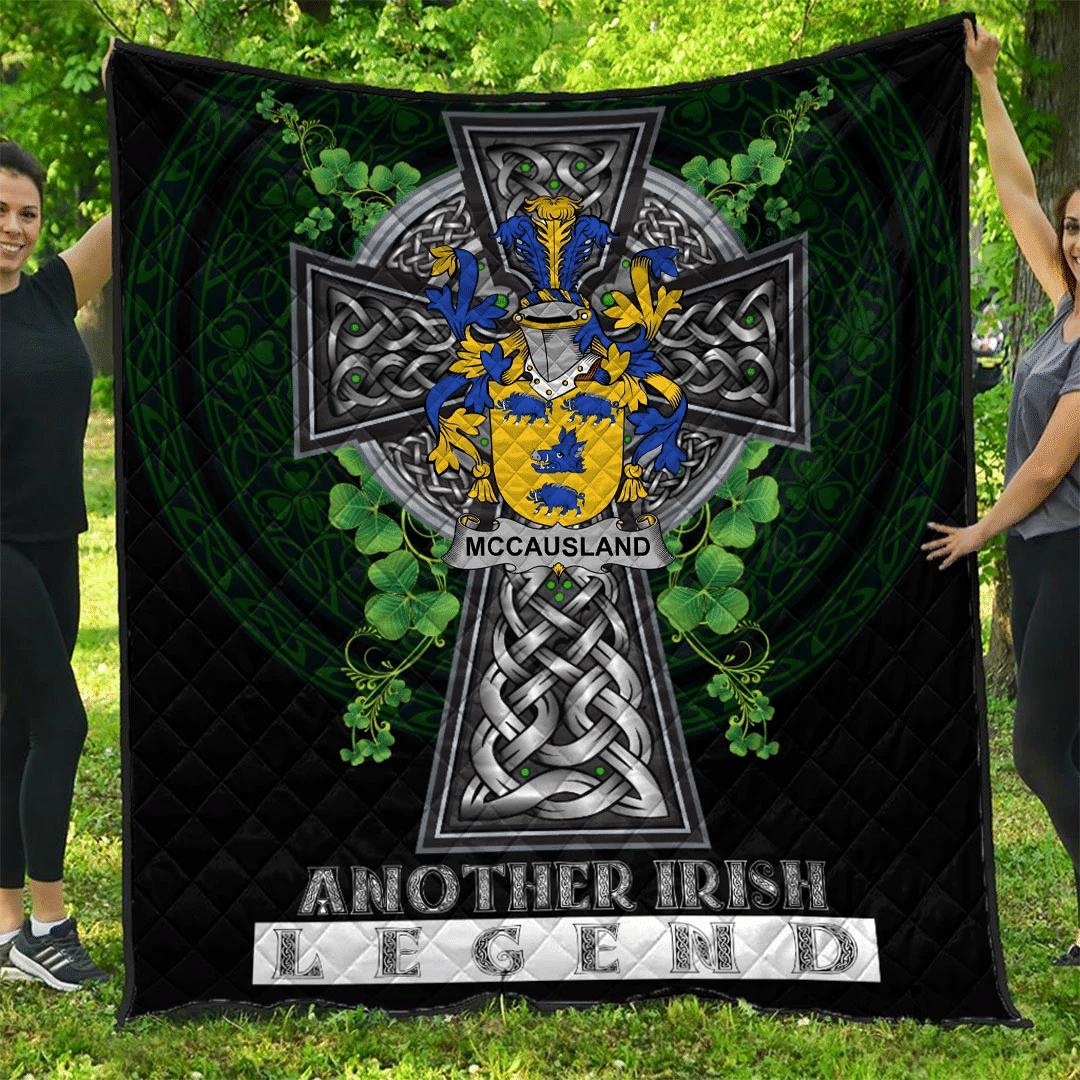 1sttheworld Premium Quilt - McCausland Irish Family Crest Quilt - Irish Legend A7