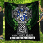 1sttheworld Premium Quilt - Sherlock Irish Family Crest Quilt - Irish Legend A7