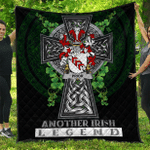 1sttheworld Premium Quilt - Prior Irish Family Crest Quilt - Irish Legend A7