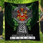 1sttheworld Premium Quilt - Quartermaines Irish Family Crest Quilt - Irish Legend A7
