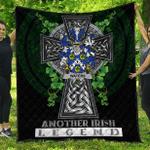 1sttheworld Premium Quilt - Waters Irish Family Crest Quilt - Irish Legend A7