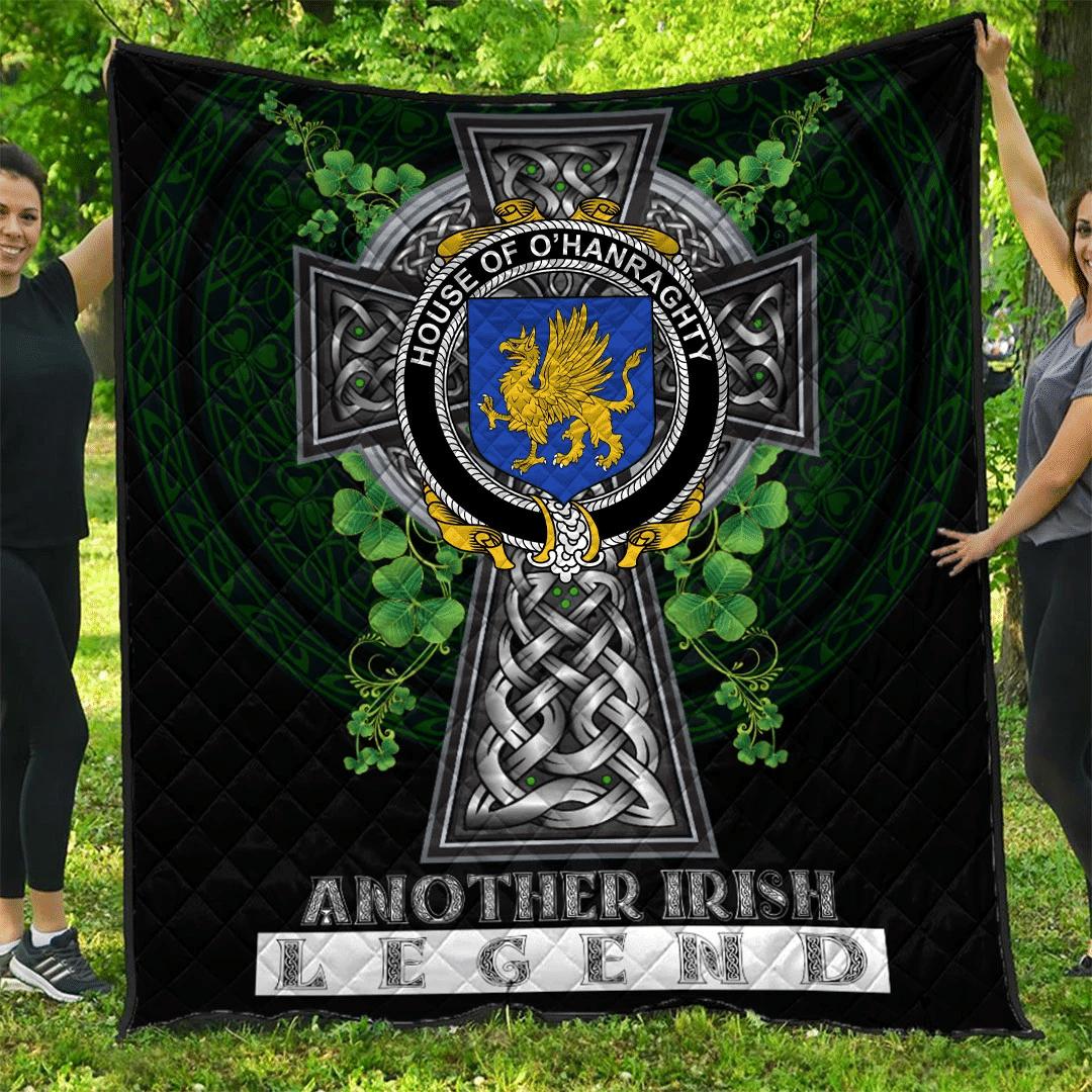 1sttheworld Premium Quilt - House of O'HANRAGHTY Irish Family Crest Quilt - Irish Legend A7