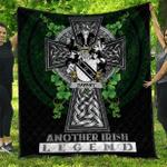 1sttheworld Premium Quilt - Dawney or Dawnay Irish Family Crest Quilt - Irish Legend A7