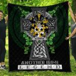 1sttheworld Premium Quilt - Glennon or Glenane Irish Family Crest Quilt - Irish Legend A7