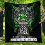 1sttheworld Premium Quilt - Hanlon or O'Hanlon Irish Family Crest Quilt - Irish Legend A7