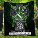 1sttheworld Premium Quilt - Mallin or O'Mallan Irish Family Crest Quilt - Irish Legend A7