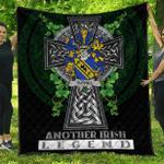 1sttheworld Premium Quilt - Tuthill Irish Family Crest Quilt - Irish Legend A7