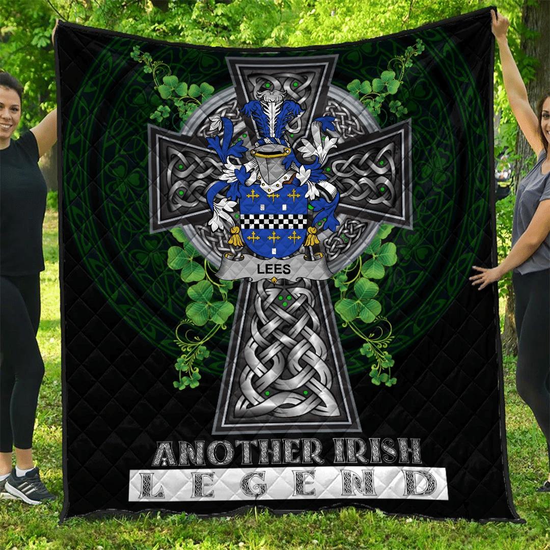 1sttheworld Premium Quilt - Lees or McAleese Irish Family Crest Quilt - Irish Legend A7