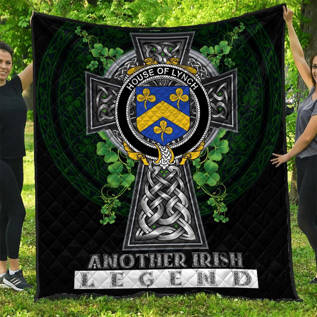 1sttheworld Premium Quilt - House of LYNCH Irish Family Crest Quilt - Irish Legend A7