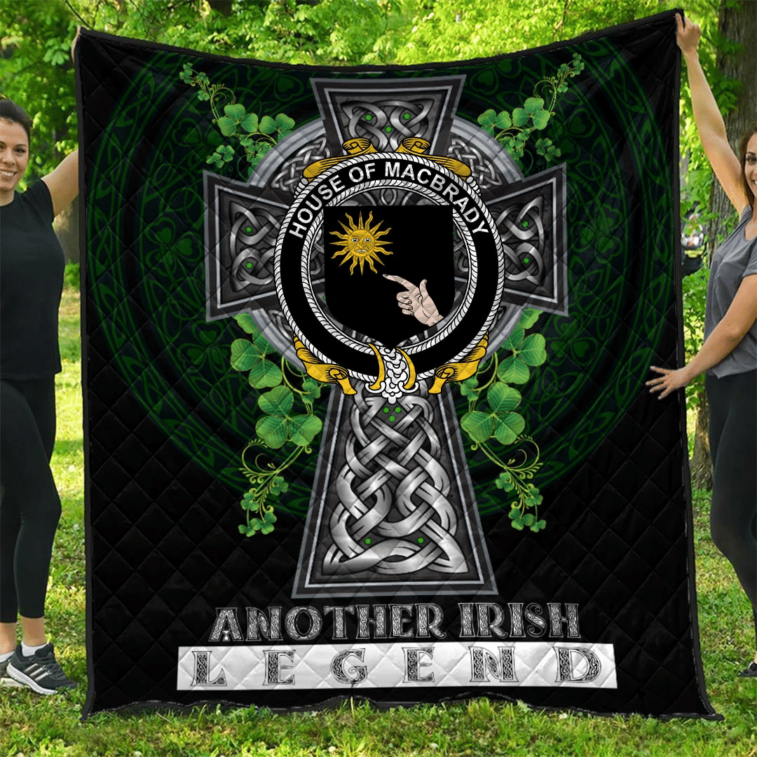 1sttheworld Premium Quilt - House of MACBRADY Irish Family Crest Quilt - Irish Legend A7