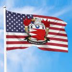 1sttheworld Premium Flag - Henderson American Family Crest Flag A7