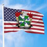 1sttheworld Premium Flag - Cahill American Family Crest Flag A7