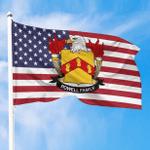 1sttheworld Premium Flag - Powell American Family Crest Flag A7