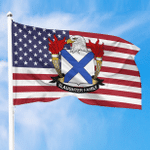 1sttheworld Premium Flag - Slaughter American Family Crest Flag A7