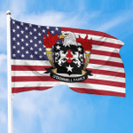1sttheworld Premium Flag - O'Donnell American Family Crest Flag A7