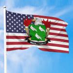 1sttheworld Premium Flag - Magill American Family Crest Flag A7