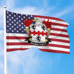 1sttheworld Premium Flag - Aylwin American Family Crest Flag A7