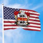 1sttheworld Premium Flag - Goodrich American Family Crest Flag A7