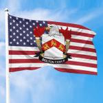 1sttheworld Premium Flag - Bolton American Family Crest Flag A7