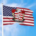 1sttheworld Premium Flag - Porcher American Family Crest Flag A7