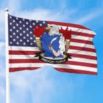 1sttheworld Premium Flag - Prevost American Family Crest Flag A7