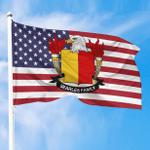 1sttheworld Premium Flag - Searles American Family Crest Flag A7