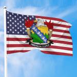 1sttheworld Premium Flag - Emerson American Family Crest Flag A7