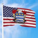1sttheworld Premium Flag - Nicholson American Family Crest Flag A7