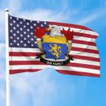 1sttheworld Premium Flag - Dix American Family Crest Flag A7