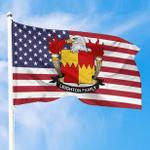 1sttheworld Premium Flag - Leighton American Family Crest Flag A7